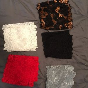 Lace Boot cuffs set of 5